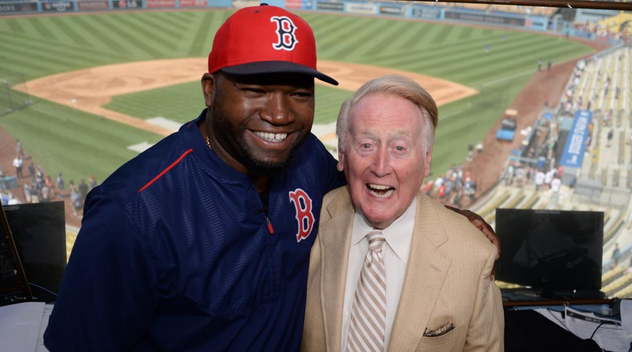 david ortiz vin scully meeting dodgers red sox