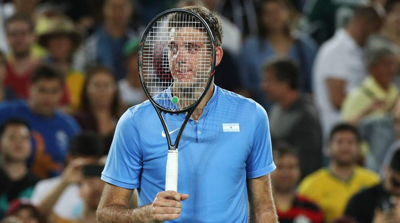 Juan Martin del Potro got stuck in an elevator before beating Novak Djokovic