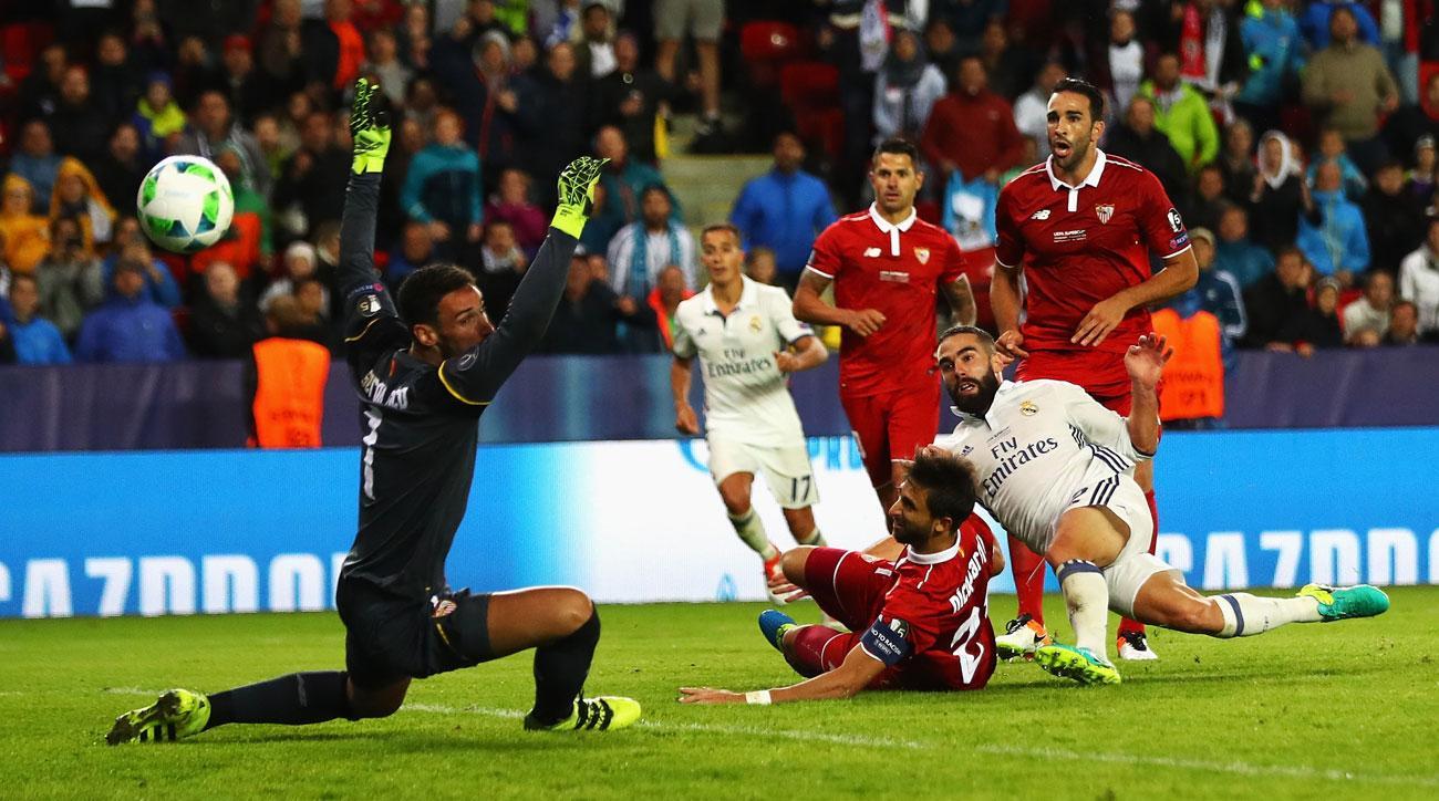 Dani Carvajal wins the UEFA Super Cup for Real Madrid