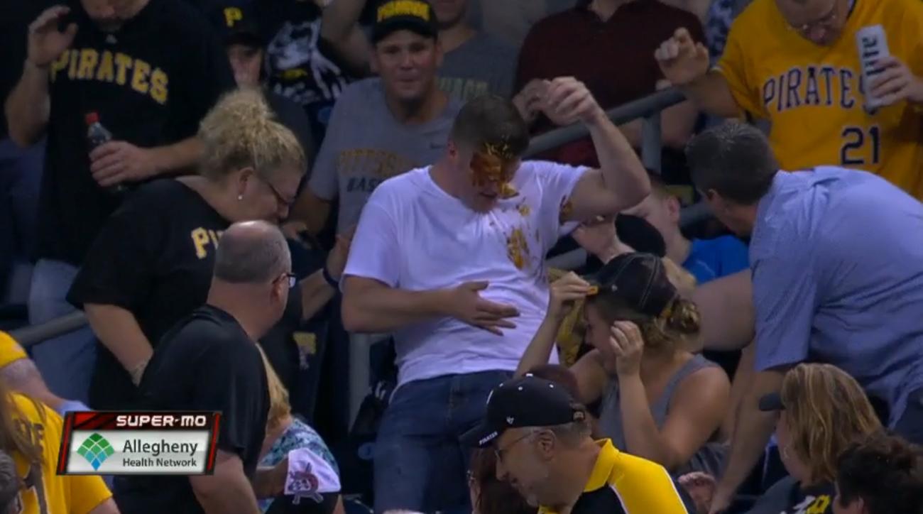 fan nachos foul ball pirates