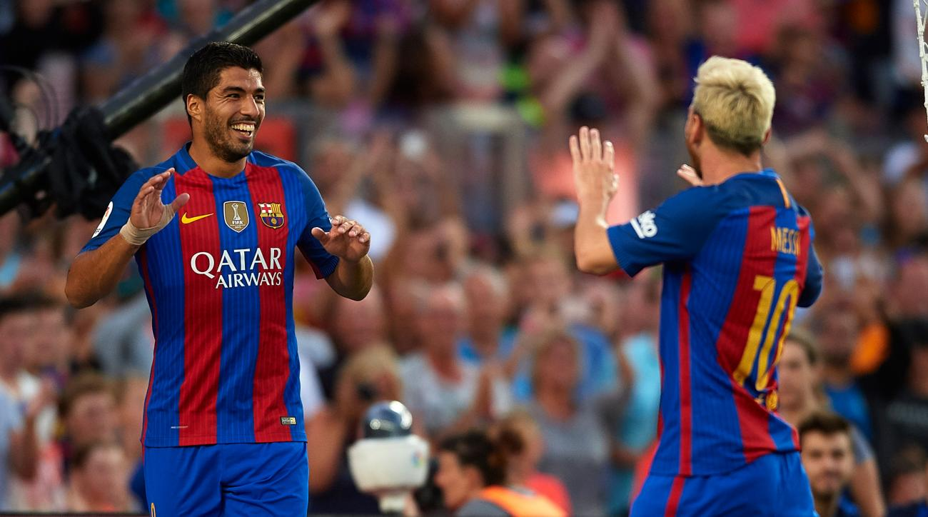 Lionel messi bicycle kick assist finds luis suarez video - Messi bicycle kick assist ...