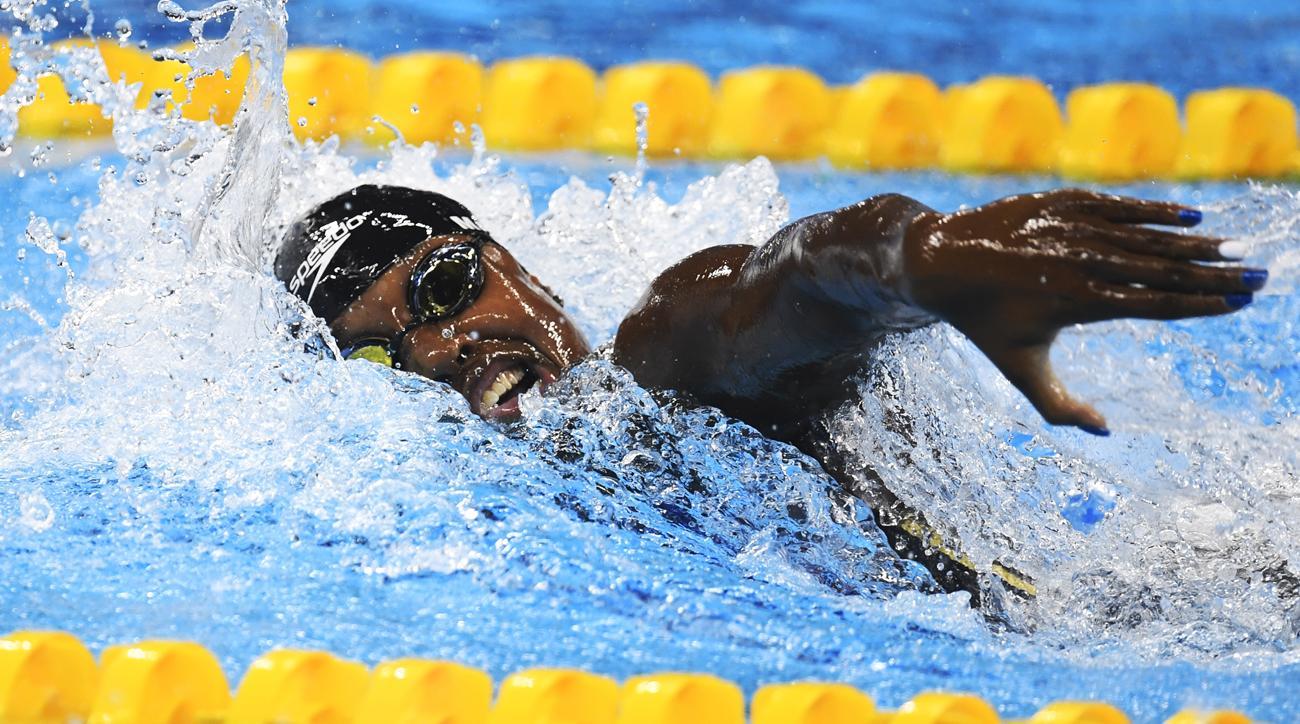 simone manuel gold medal tie