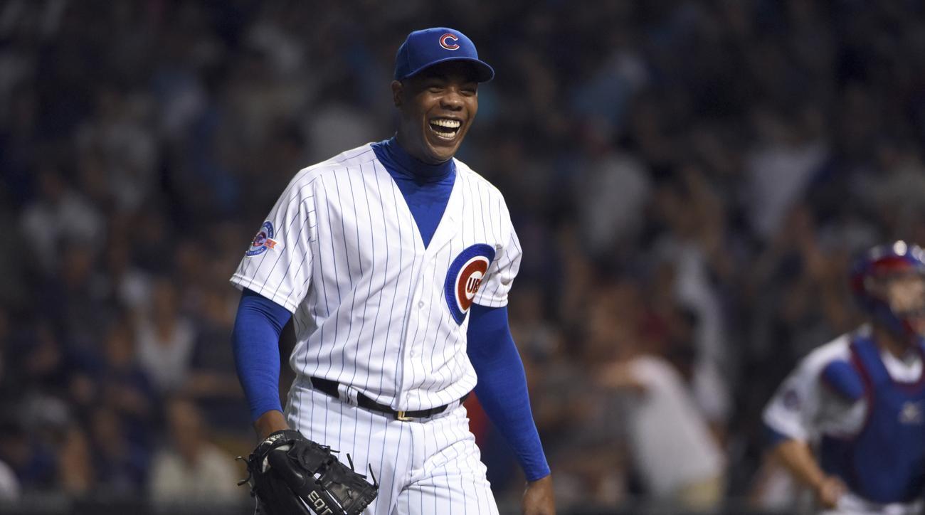 aroldis chapman three pitch inning cubs
