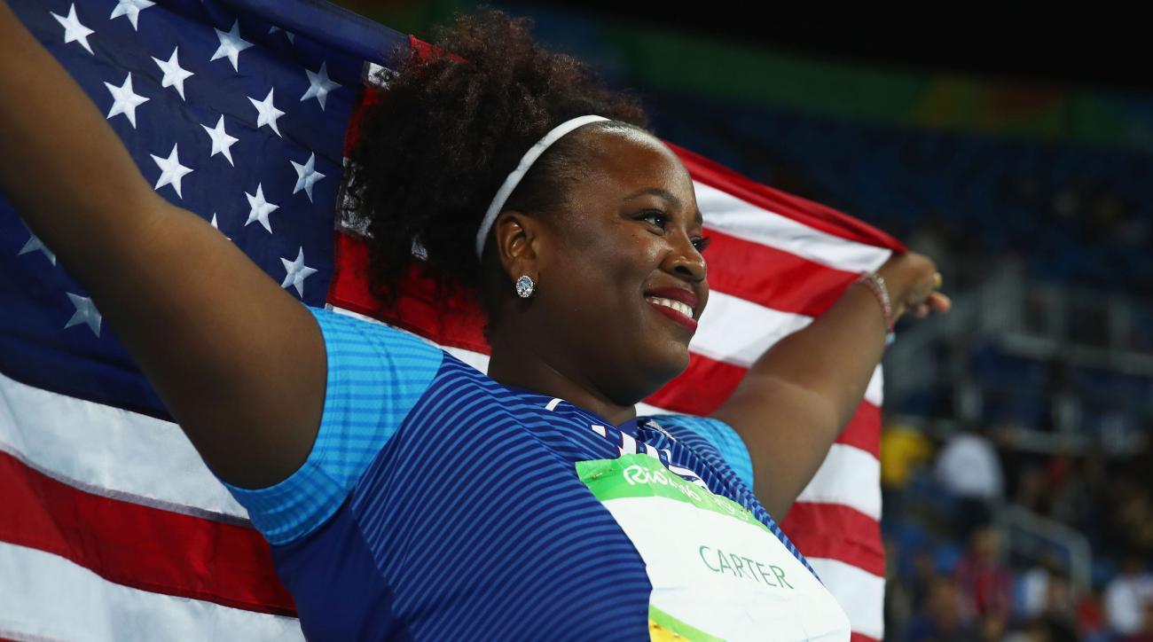 michelle carter shot put gold medal