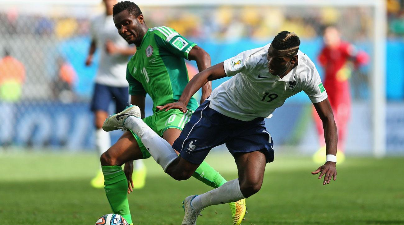 John Obi Mikel vs. Paul Pogba in the 2014 World Cup