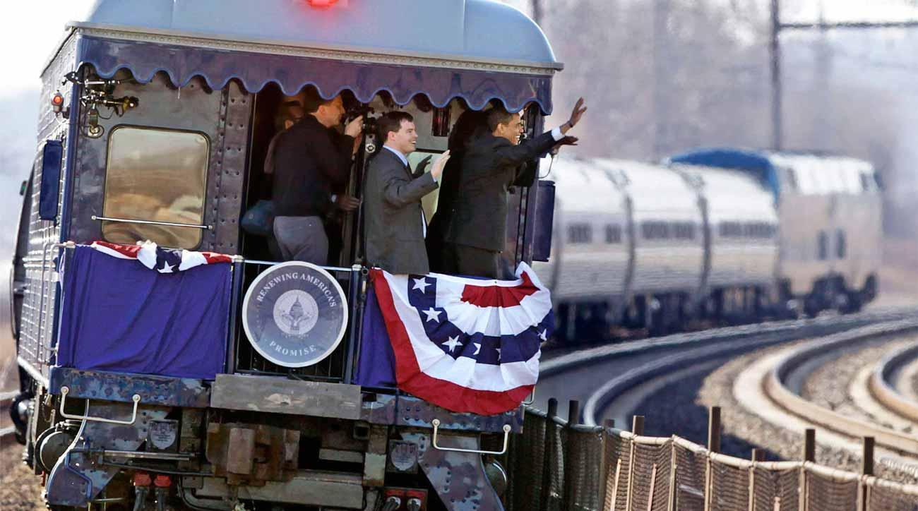 President Obama's campaign train