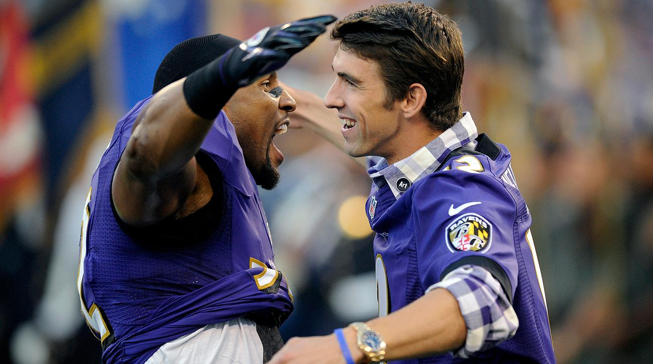 Image result for michael phelps ray lewis