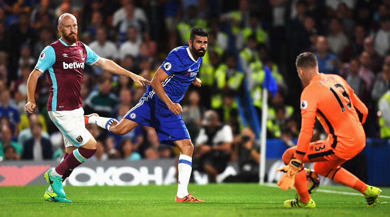 Diego Costa scores the winner for Chelsea vs. West Ham