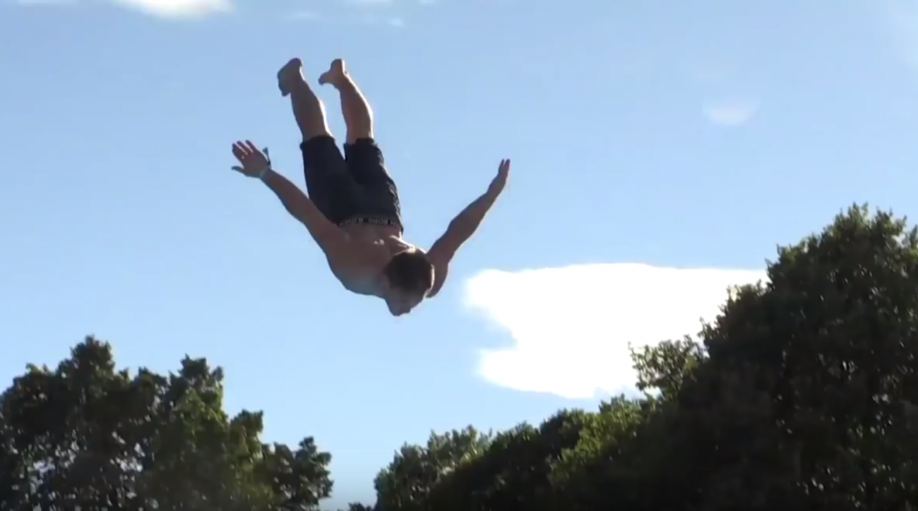 norway dodsing belly flop contest video