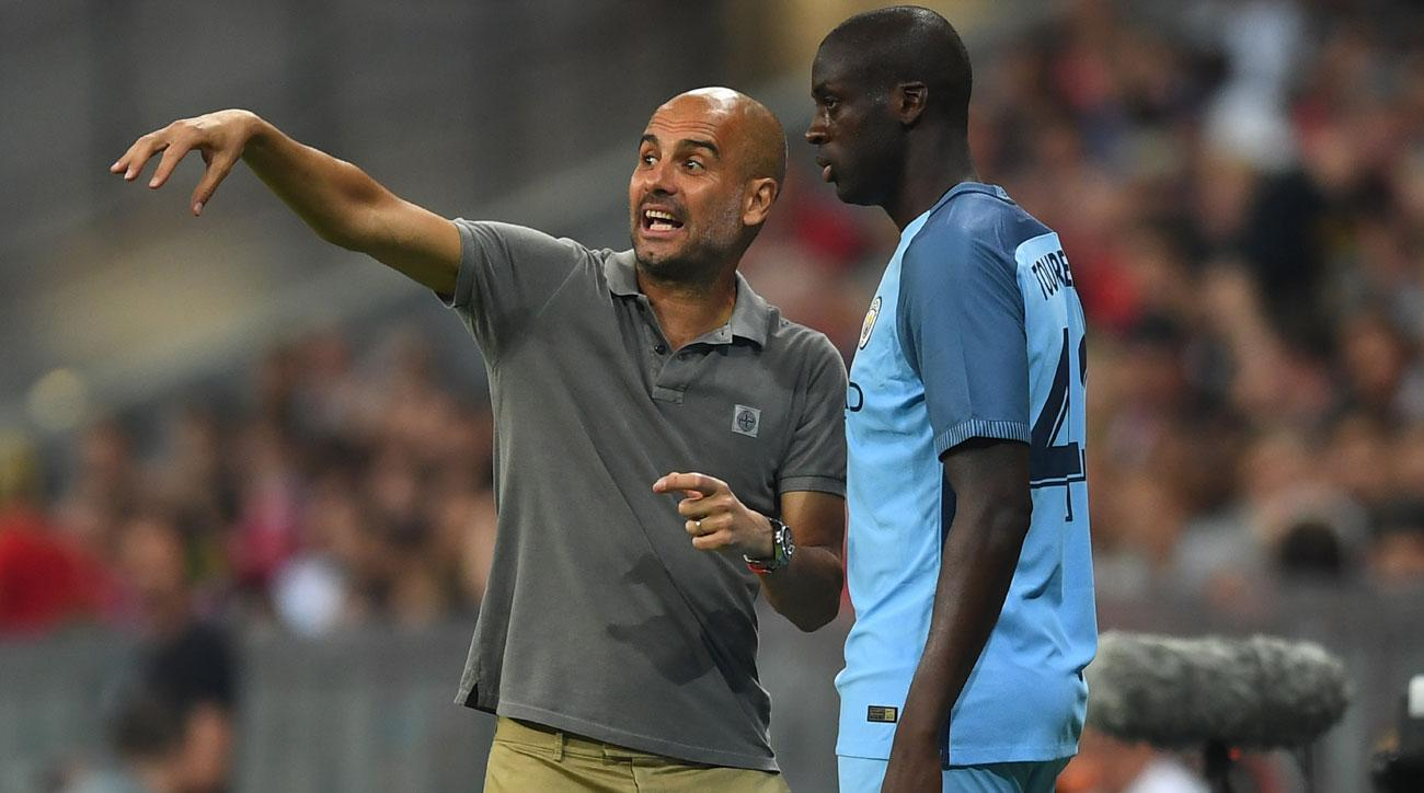Yaya Toure has been left out of Manchester City's squad for the Champions League playoff round