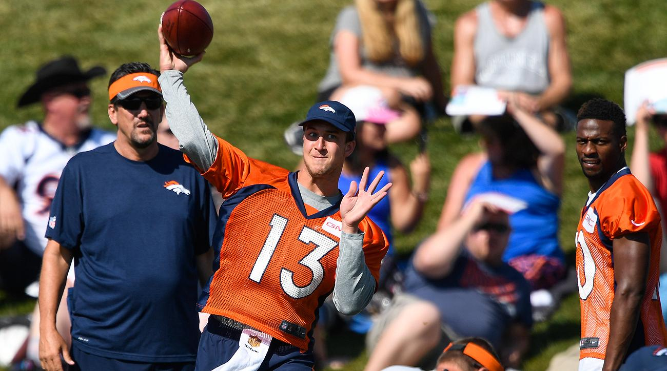 Trevor Siemian, who appeared in one game as a rookie but did not attempt a pass, has emerged as a legitimate threat to win Denver's quarterback job.