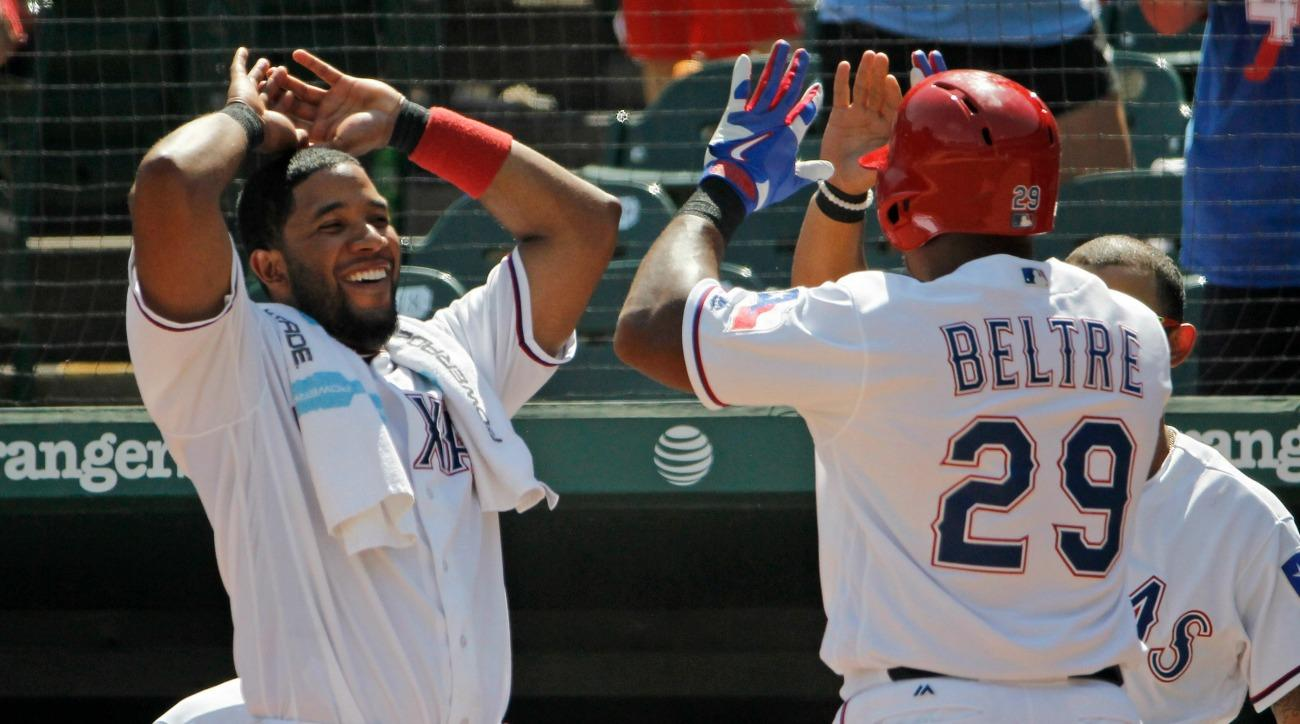 Adrian Beltre and Elvis Andrus continued to be baseballs best comedy team