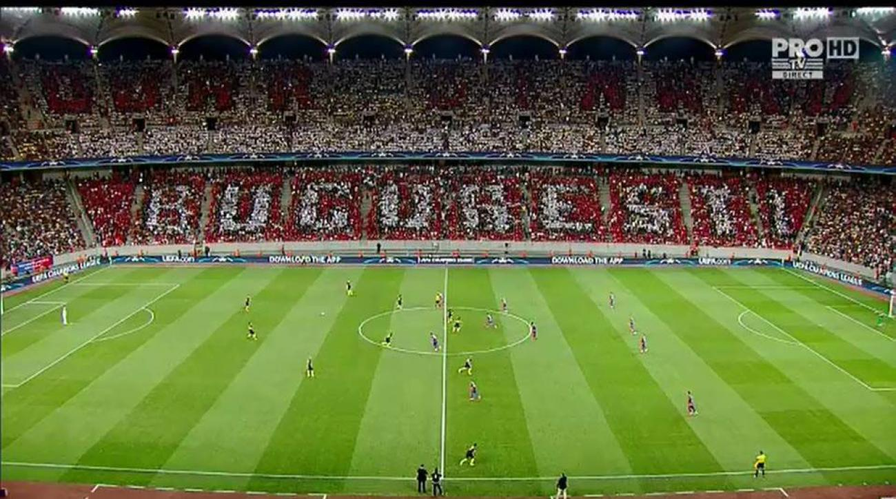 steaua dinamo bucharest tifo troll photo