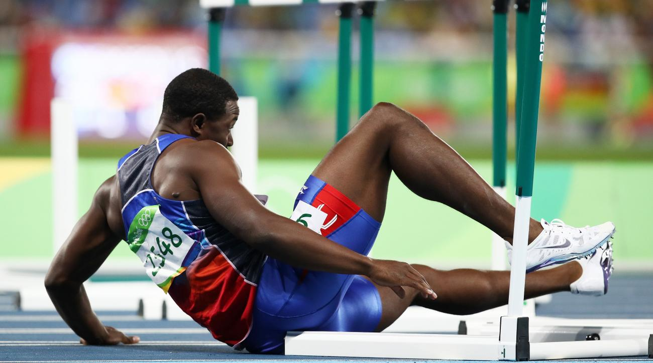 haiti hurdles jeffrey julmis fall finish video