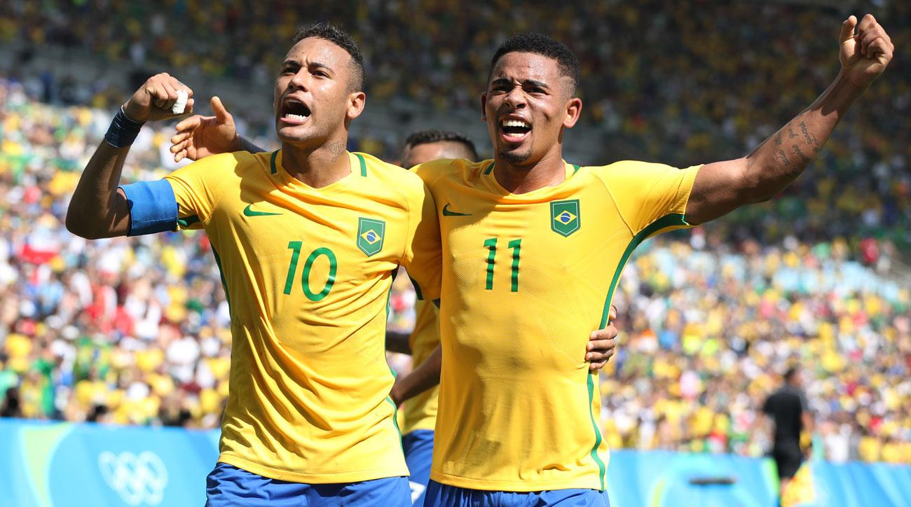 Neymar and Gabriel Jesus lead Brazil's rout of Honduras at the Olympics