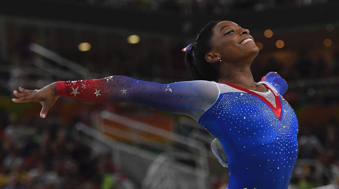 simone biles gold medal flip book