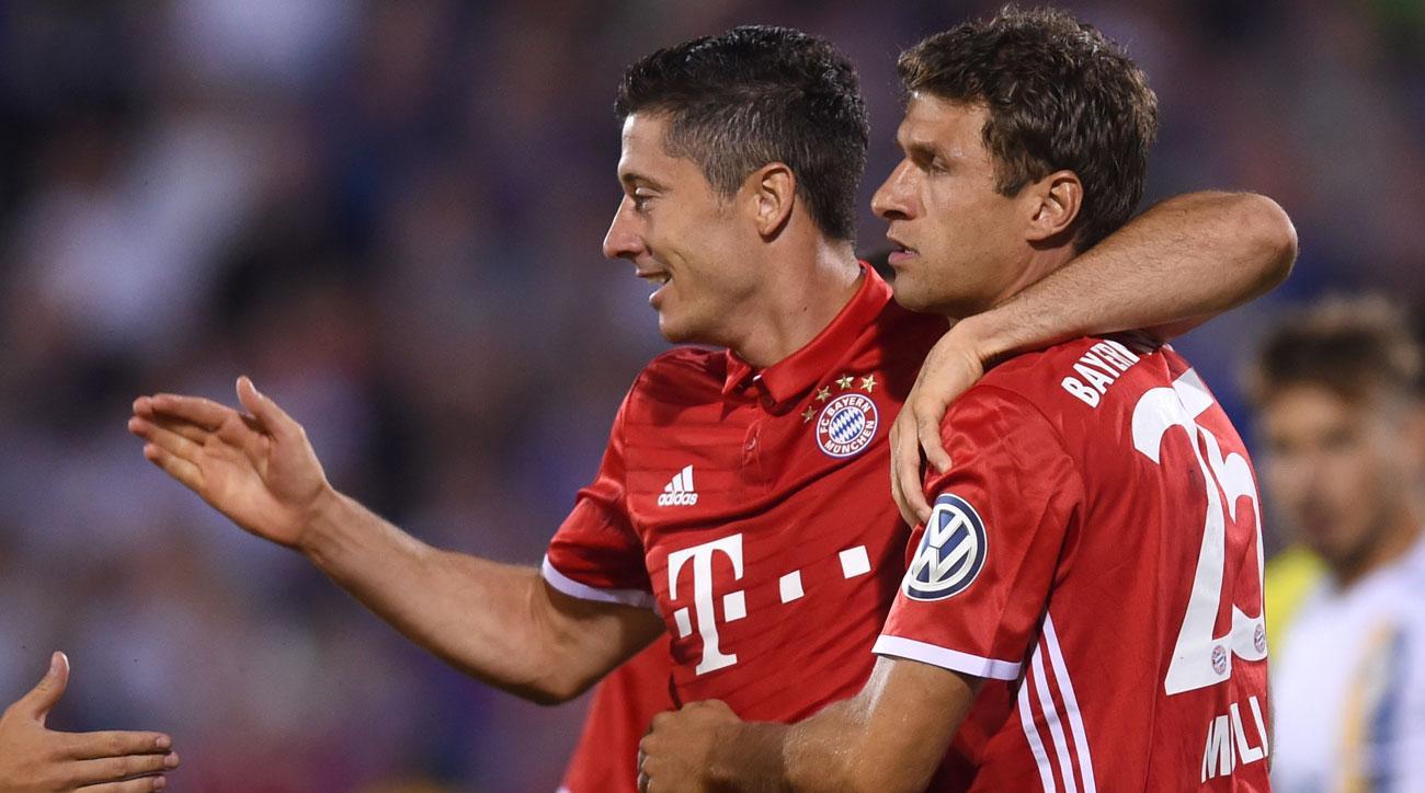 Robert Lewandowski scores a hat trick in Bayern Munich's cup triumph