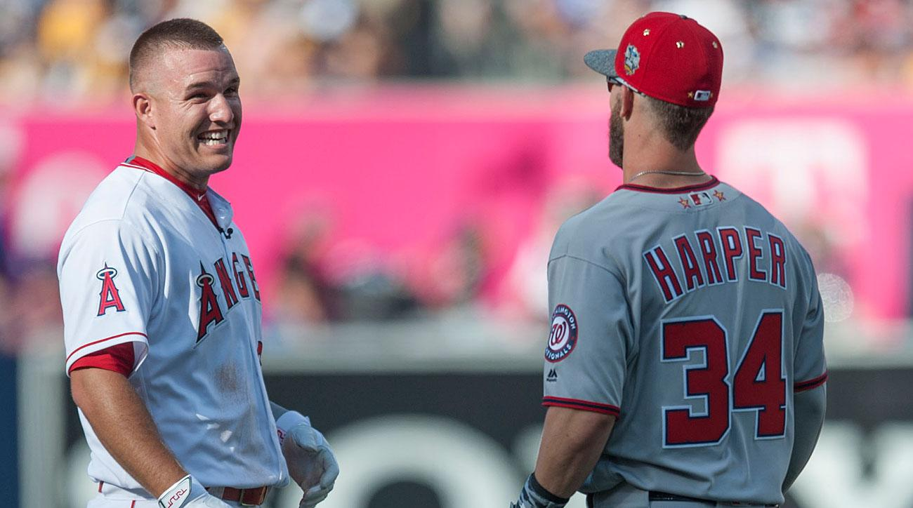 Mike Trout, Los Angeles Angels of Anaheim; Bryce Harper, Washington Nationals