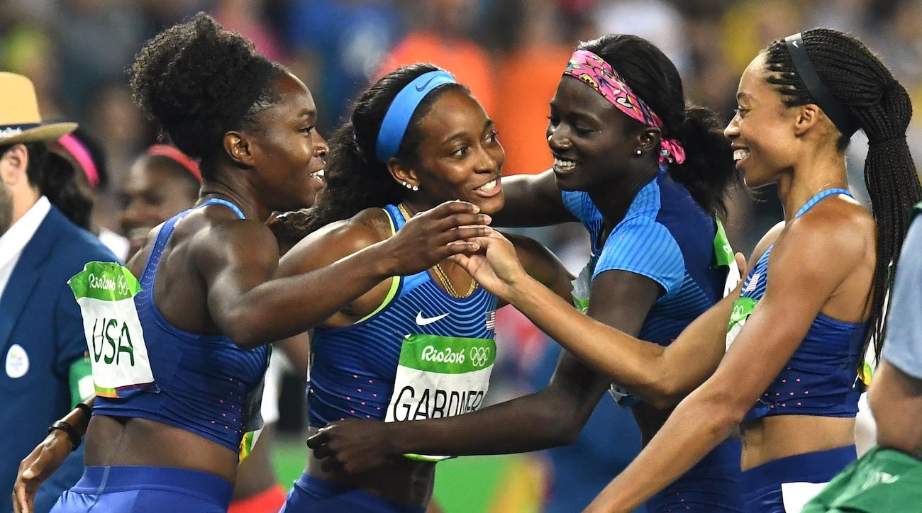 united states women 4x100 relay gold medal