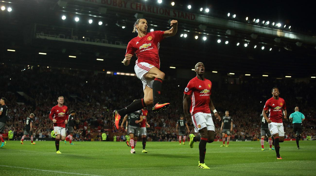 Zlatan Ibrahimovic scores twice for Manchester United vs. Southampton