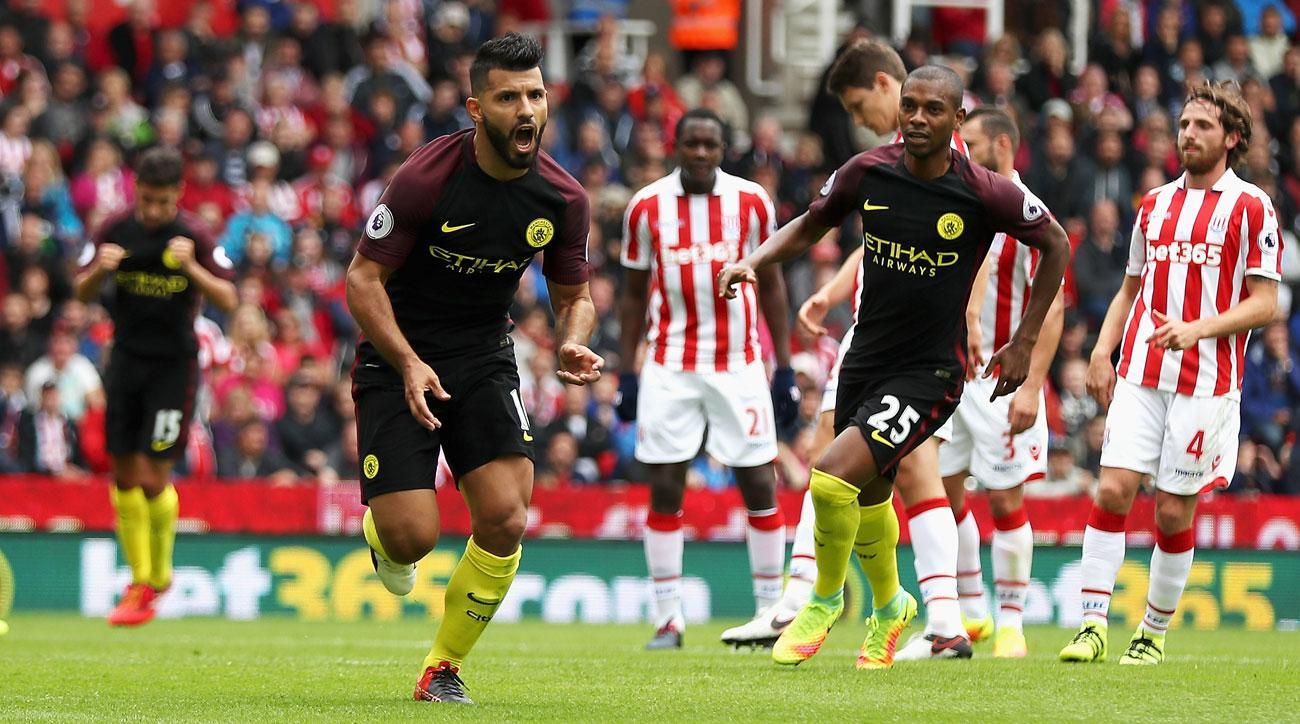 Sergio Aguero, Nolito score twice in Manchester City's win over Stoke City