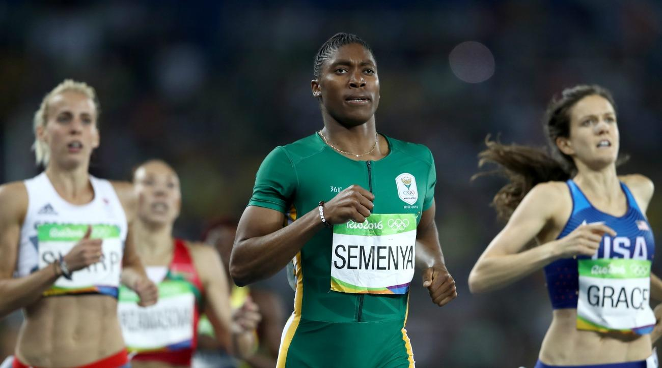 Catser Semenya wins gold in the 800m race
