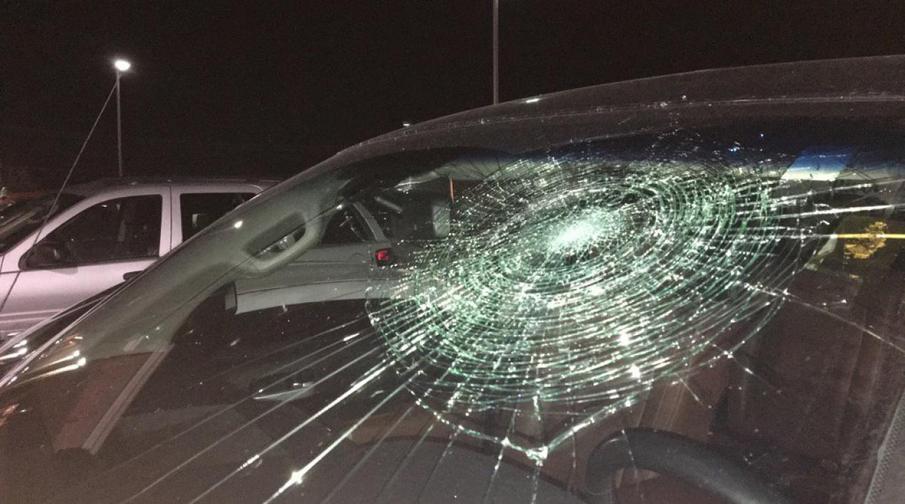 frontier league brandon thomas grand slam windshield broken