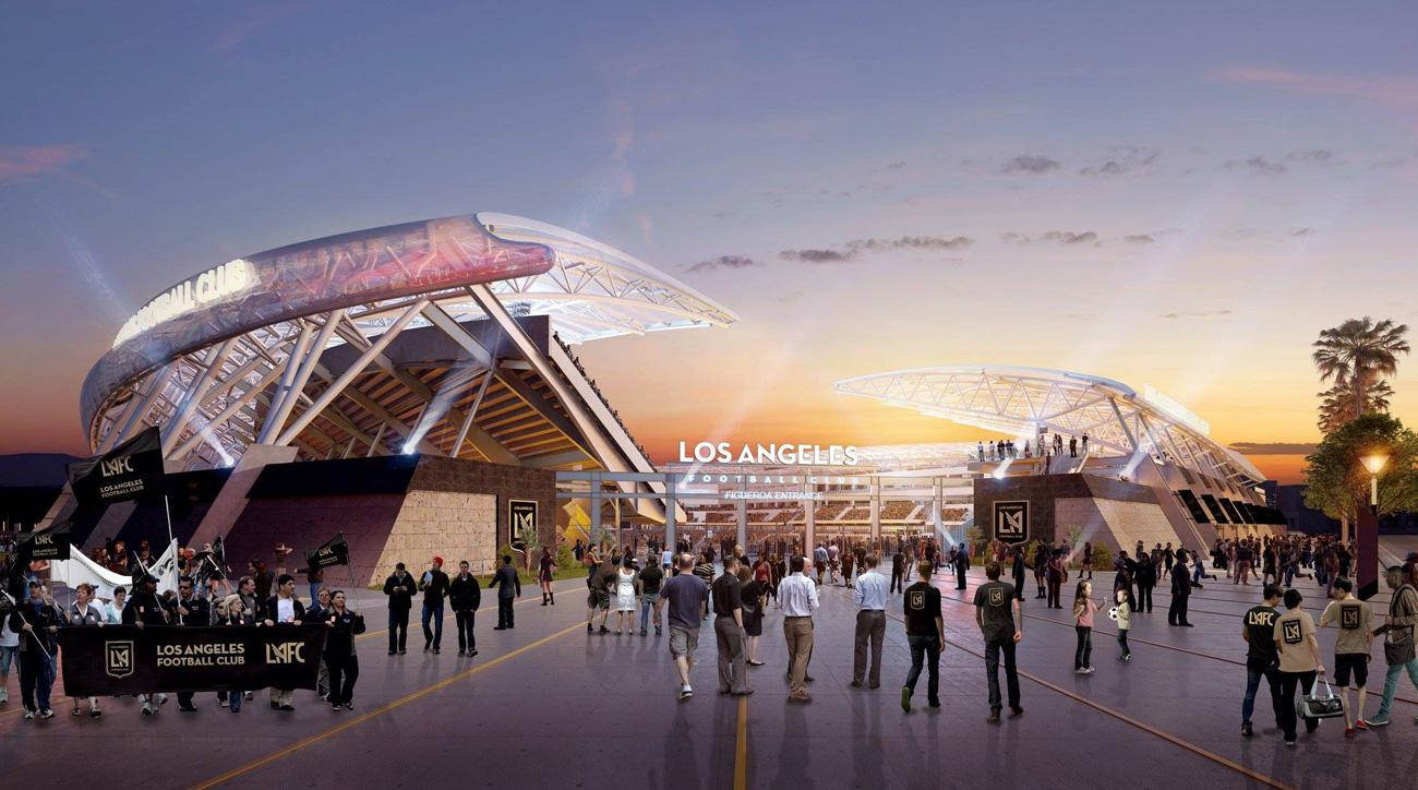 LAFC breaks ground on its new stadium, which will be ready for its inaugural 2018 MLS season