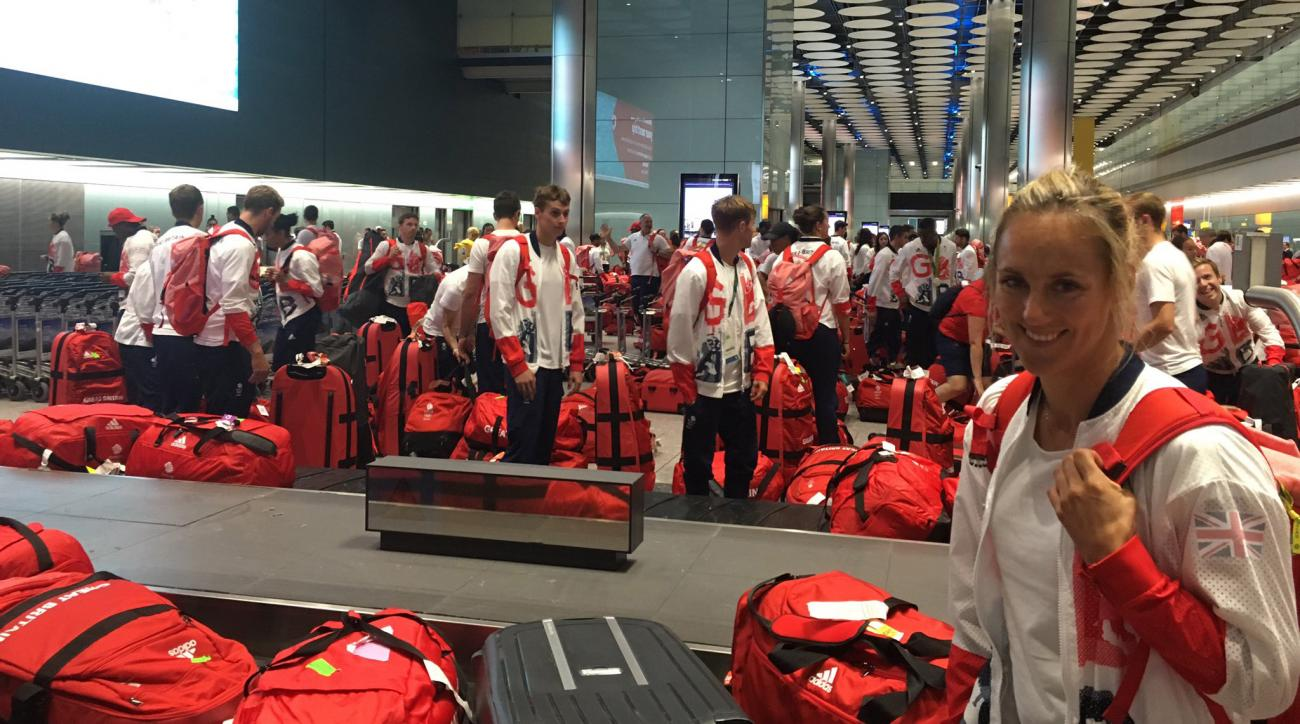 great britain olympics matching luggage baggage claim