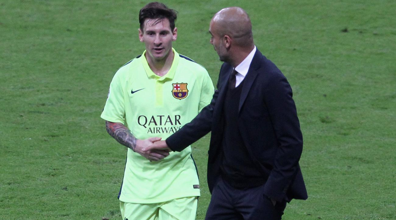 Lionel Messi and Barcelona will take on Pep Guardiola's Manchester City in the Champions League