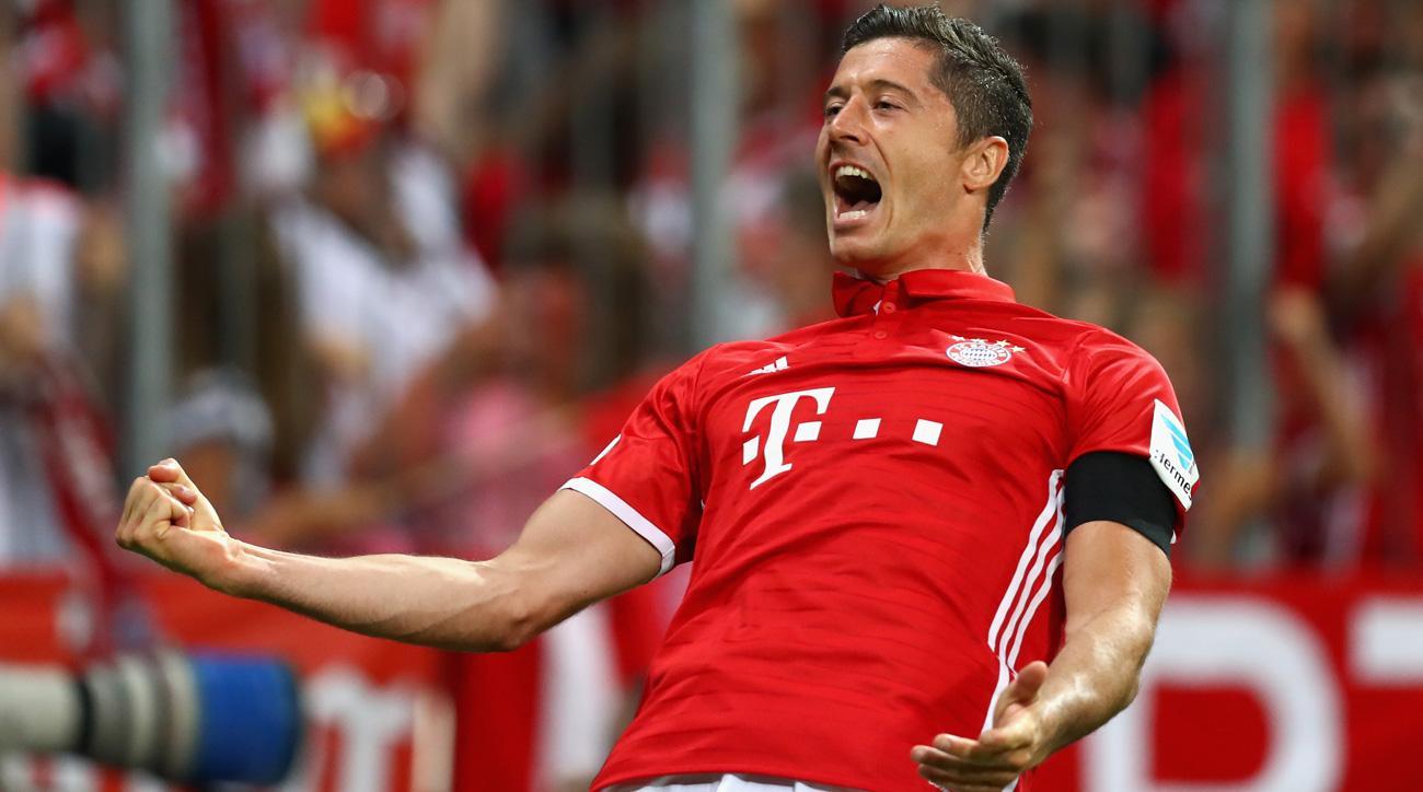 Robert Lewandowski opened his season with a hat trick for Bayern Munich