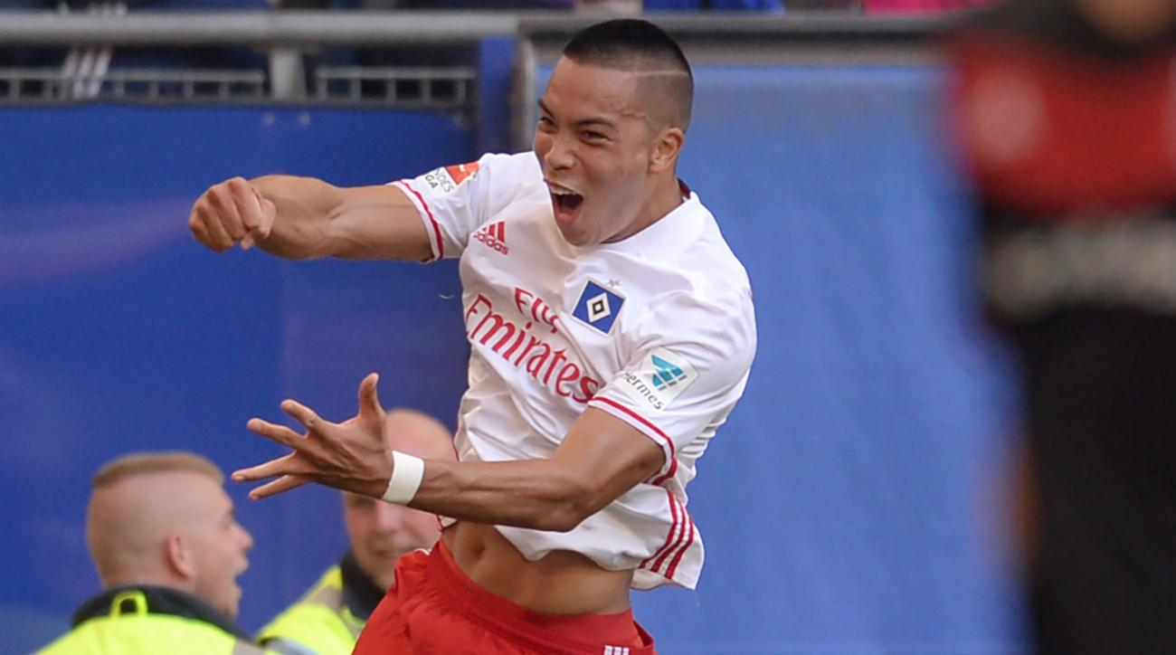 bobby wood goal hamburg debut