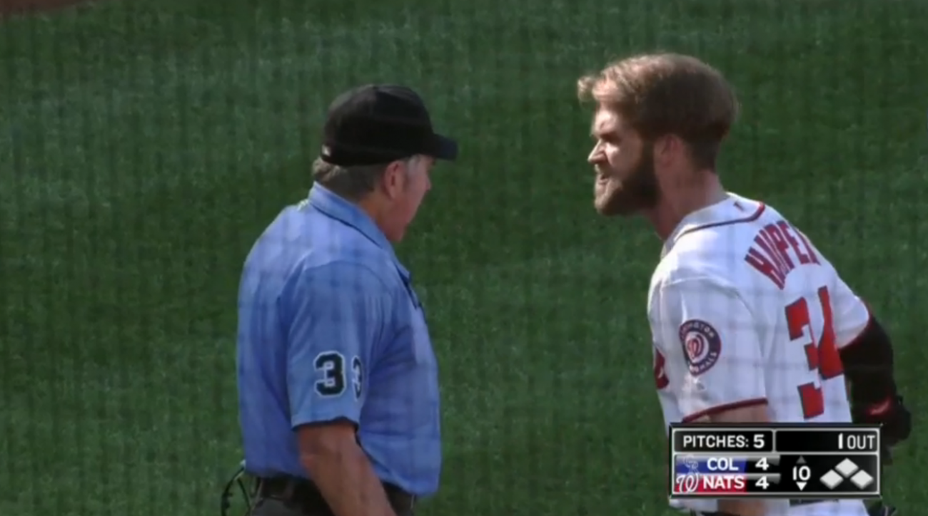 bryce harper tossed nationals