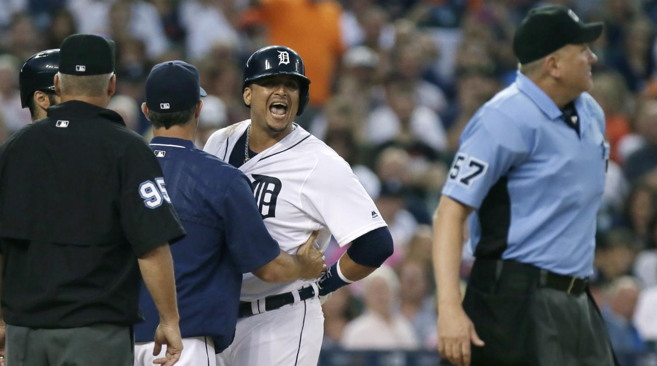 victor martinez tigers ejections