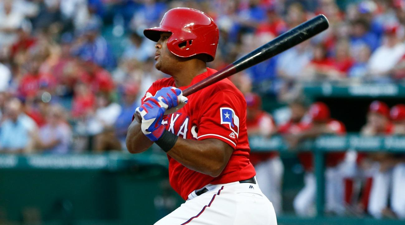 Adrian Beltre wore a backwards helmet