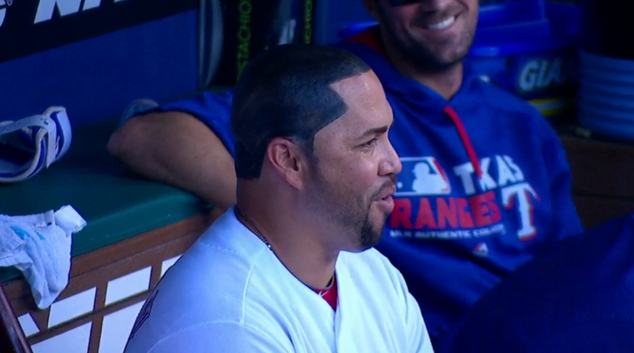 rangers carlos beltran fake hair update photo