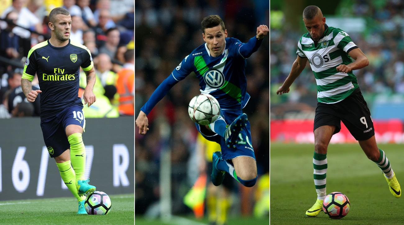 Jack Wilshere, Islam Slimani and Julian Draxler could be on the move before the transfer deadline