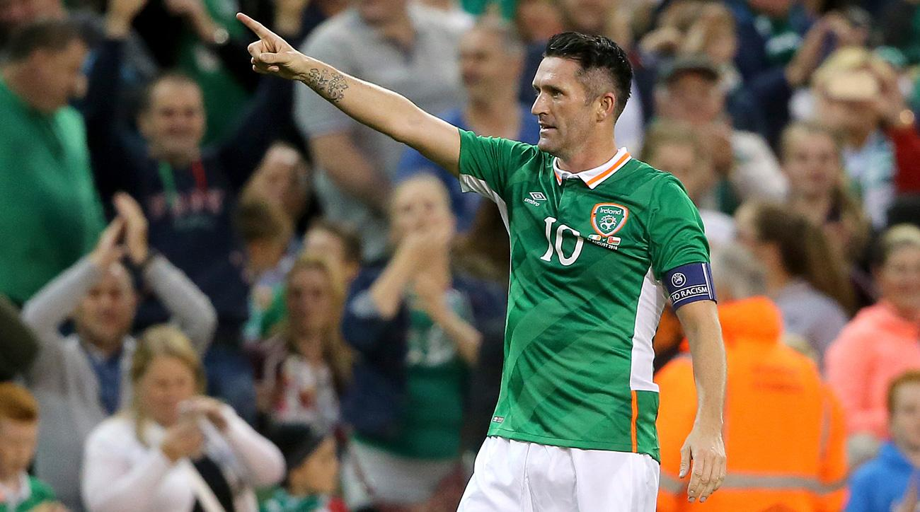 Robbie Keane scores in his final game for Ireland