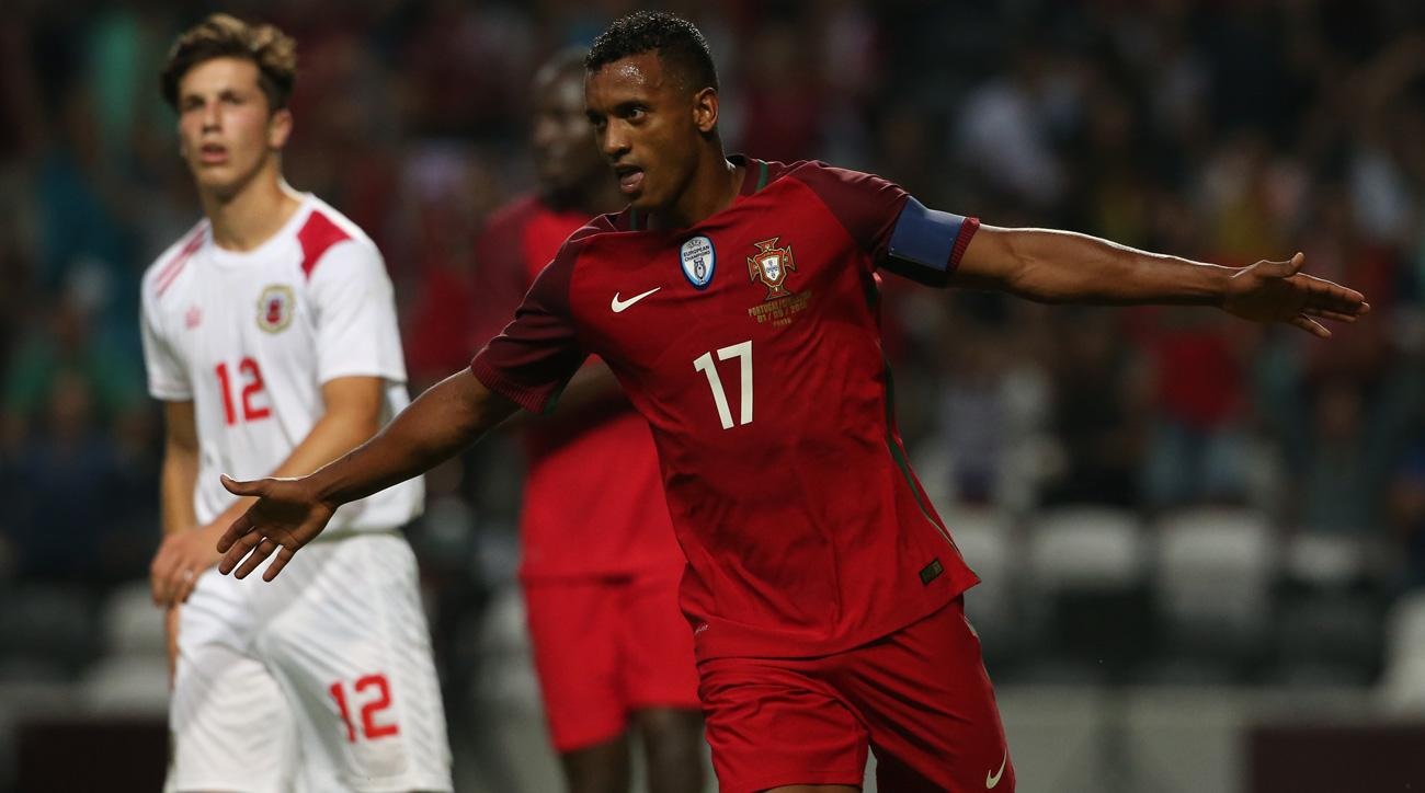 Nani scored two goals in Portugal's rout of Gibraltar
