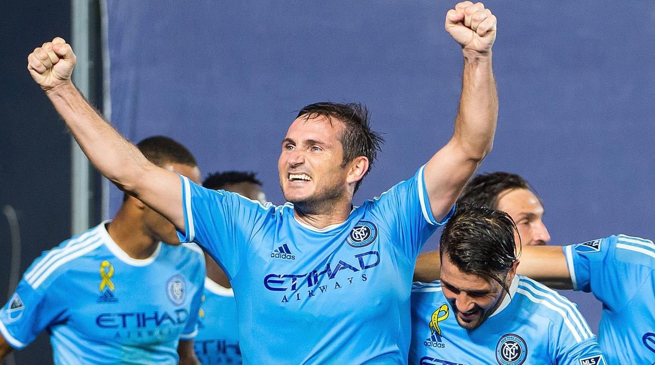 Frank Lampard scores the game winner for NYCFC vs. D.C. United
