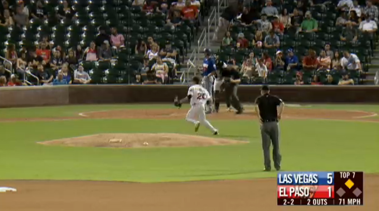 las vegas 51s el paso chihuahuas foul ball out video