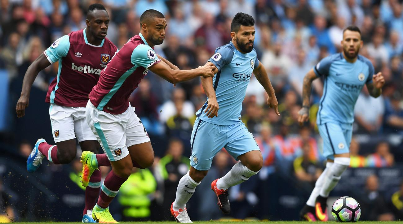 Manchester City's Sergio Aguero is banned three games