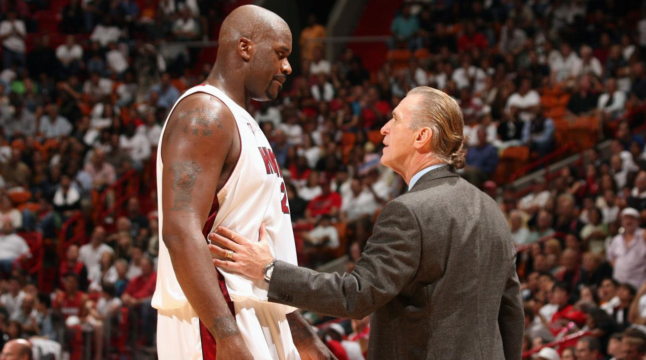 pat riley shaquille oneal heat