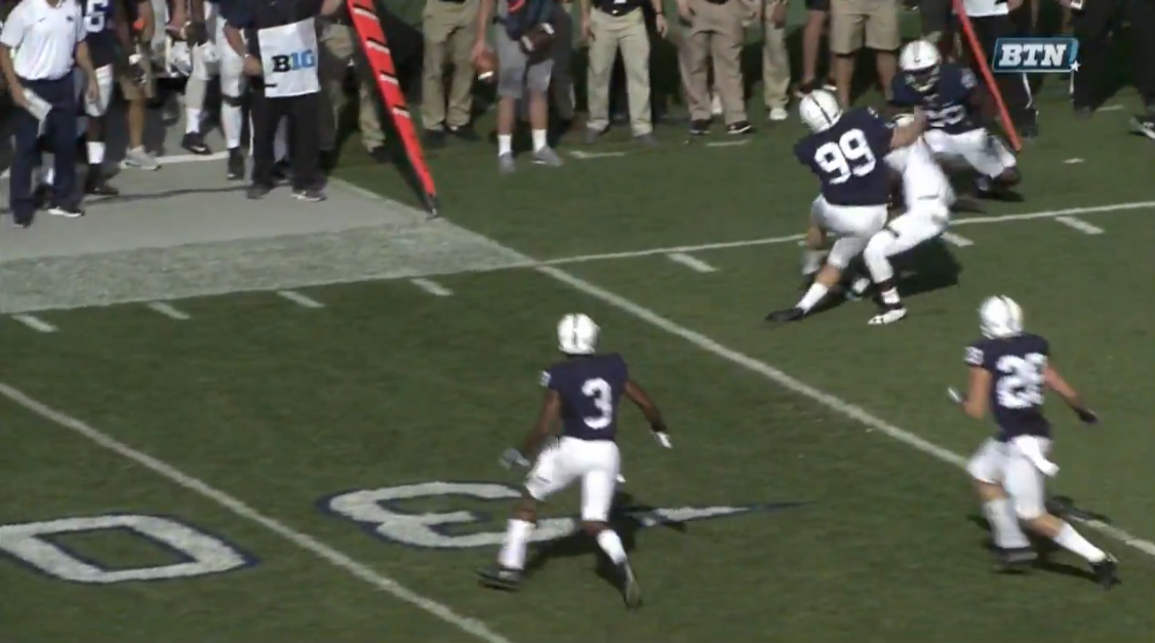 penn state kicker tackle