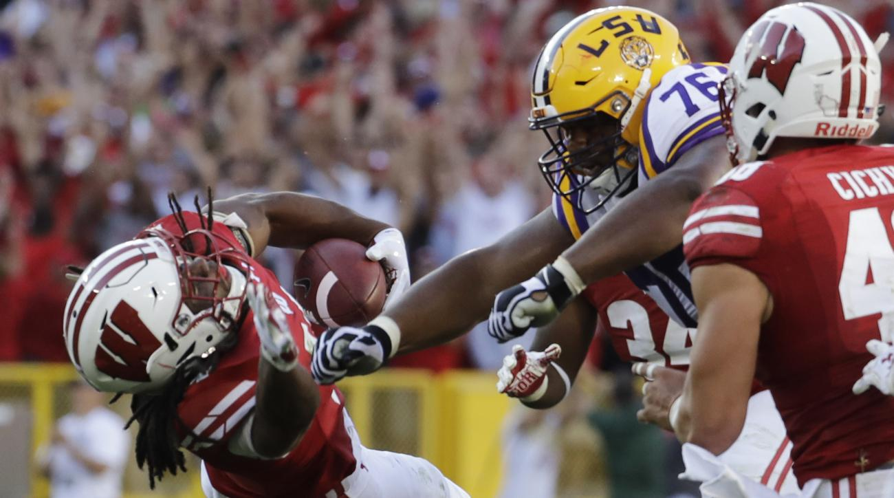 josh boutte suspended lsu wisconsin cheap shot