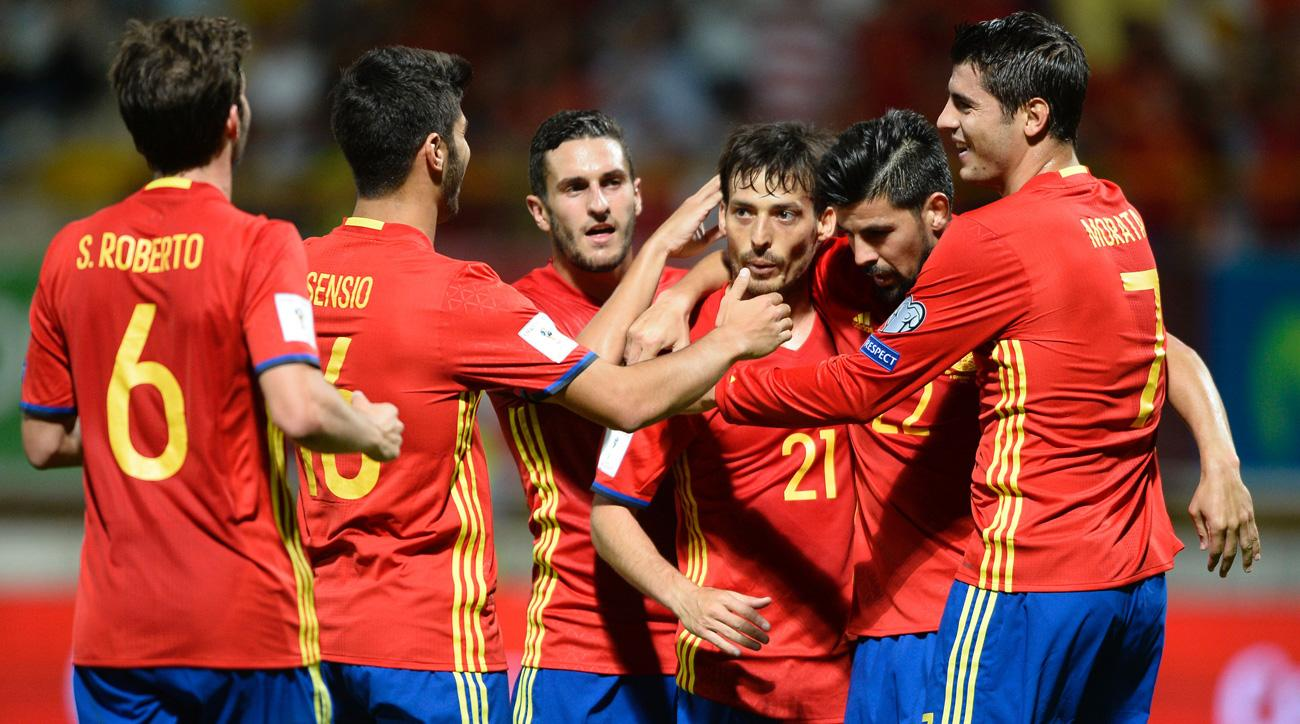Spain routs Liechtenstein 8-0 in World Cup qualifying