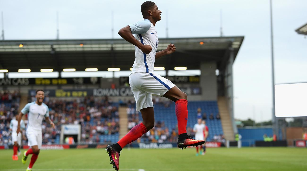 Marcus Rashford lights up Norway for a hat trick in England's U-21 match