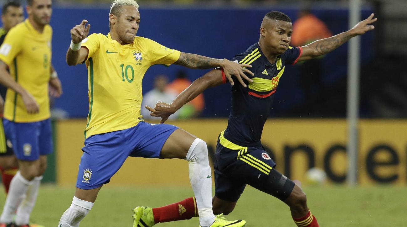 neymar goal colombia vs brazil