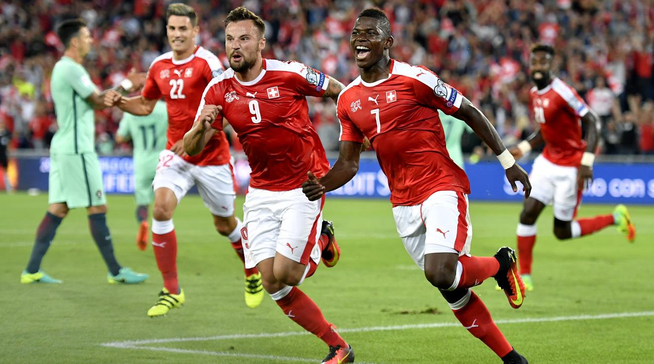 Switzerland beats Portugal in World Cup qualifying
