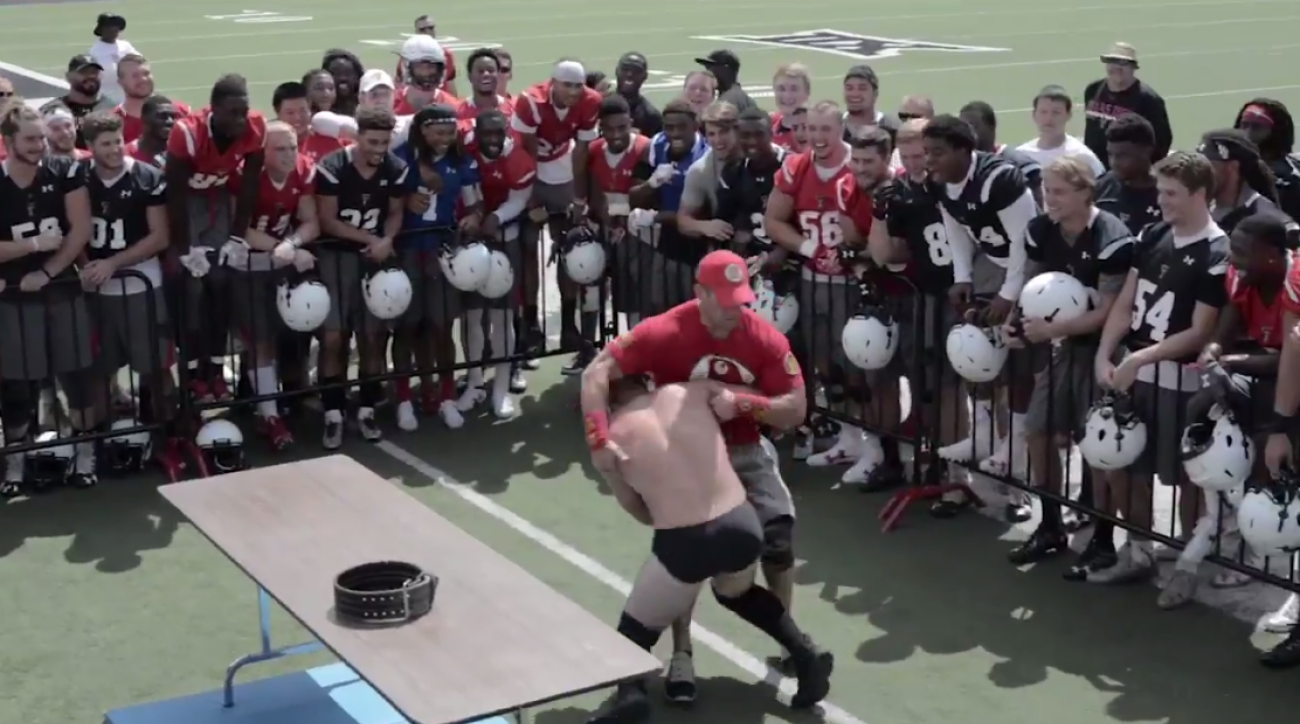 texas tech football coaches wwe wrestling match video